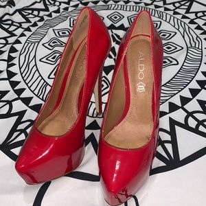 Aldo Red Leather Stilettos